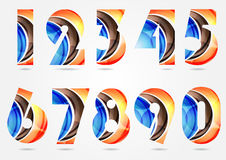 Collection of numbers Royalty Free Stock Photos