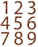 Collection of numbers, made from floral patter Stock Photos