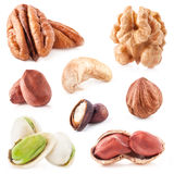 Collection of nuts Stock Photos