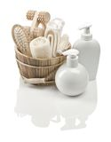 Collection of objects for bathing Royalty Free Stock Photo