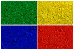 Collection od colorful powder background. Yellow, green, red, blue Royalty Free Stock Image