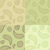 Collection od hand drawn vector seamless patterns Royalty Free Stock Image