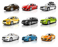 Collection Of 3D Cars Isolated Royalty Free Stock Image
