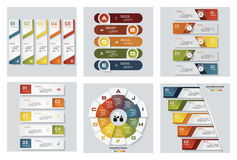 Free Collection Of 6 Design Colorful Presentation Templates. Vector Background. Stock Photo - 88028750