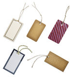 Collection Of Blank Hang Tags Royalty Free Stock Images