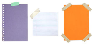 Collection Of Blank Paper Stuck With Tape Royalty Free Stock Image