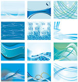 Collection Of Blue Backgrounds Stock Photography