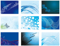Collection Of Blue Backgrounds Royalty Free Stock Images