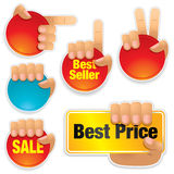 Collection Of Bright Buttons Royalty Free Stock Photos