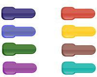 Collection Of Brightly Colored Web Elements Stock Photos