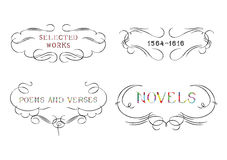 Collection Of Calligraphic Ornaments Royalty Free Stock Image
