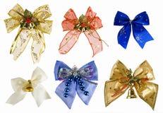 Collection Of Christmas Bows Stock Photos