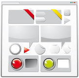 Collection Of Colored Web Elements Stock Images