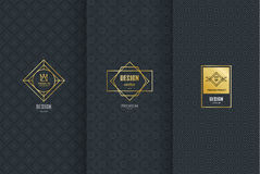 Free Collection Of Design Elements,labels,icon,frames, For Packaging,design Of Luxury Products.Made With Golden Foil.Isolated On Black Royalty Free Stock Photos - 80797178