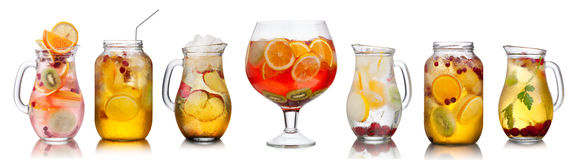 Collection Of Different Drinks Royalty Free Stock Image