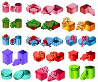 Collection Of Different Gift Boxes Royalty Free Stock Photos
