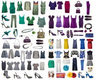 Collection Of Dress And Shoes Royalty Free Stock Photography
