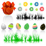 Collection Of Easter Elements Royalty Free Stock Photos
