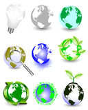 Collection Of Globes Royalty Free Stock Photos