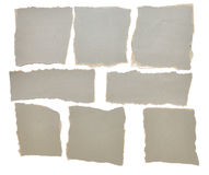 Collection Of Grey Ripped Pieces Of Paper Royalty Free Stock Image