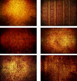 Collection Of Grunge Vintage Background Textures Stock Images
