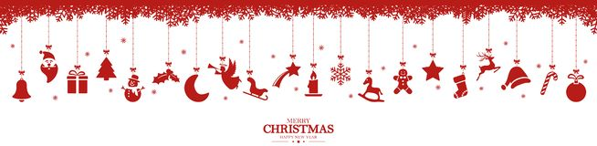 Free Collection Of Hanging Christmas Icons Royalty Free Stock Image - 164108916
