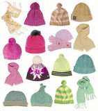 Collection Of Hats Royalty Free Stock Image