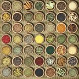 Collection Of Herbs And Spices Stock Image