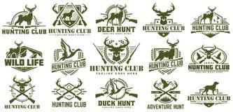 Free Collection Of Hunting Logo, Vector Set Of Hunt Label, Badge Or Emblem, Duck And Deer Hunt Logo Royalty Free Stock Image - 137576396
