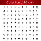 Collection Of Icons For Your Business Website Stock Photography
