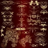 Collection Of Luxury Golden Calligraphic Elements And Page Decor Stock Photography
