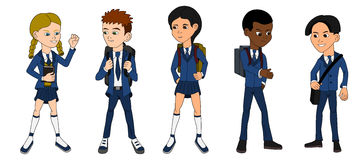 Collection Of Multiracial School Kids Royalty Free Stock Photo