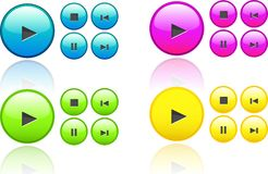 Collection Of Music Buttons Stock Photos