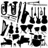Collection Of Music Vector 2 Royalty Free Stock Photo