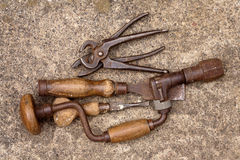 Collection Of Old Tools Royalty Free Stock Images
