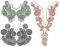 Free Collection Of Ornamental Floral Neckline Stock Images - 44988554