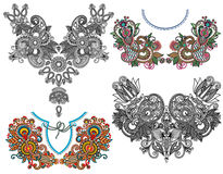 Free Collection Of Ornamental Floral Neckline Royalty Free Stock Photos - 44988568