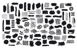 Free Collection Of Paint Brush Marker Ink Stokes Textures Stock Images - 110739714