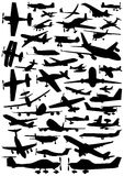 Collection Of Plane Vector Stock Image
