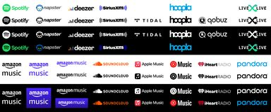 Free Collection Of Popular Music Streaming Services Logos Stock Photos - 209515743