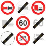 Collection Of Road Signs Used In Belgium Stock Image
