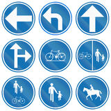 Collection Of Road Signs Used In Belgium Royalty Free Stock Image