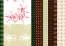 Collection Of Scrapbooking Set Stock Images