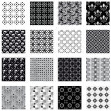 Collection Of Seamless Backgrounds Black And White Stock Photos