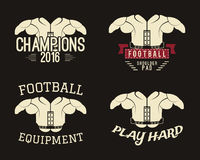 Collection Of Shoulder Pads Labels, Stamps, Logos Royalty Free Stock Photos