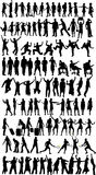 Collection Of Silhouettes Stock Photos