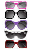 Collection Of Solar Glasses Stock Photo