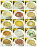 Collection Of Soups Stock Image