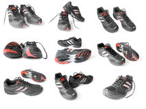 Collection Of Sport Shoes Stock Photography