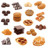 Collection Of Sweets. Collage. Stock Photos
